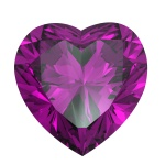 Heart shaped Diamond isolated. amethyst