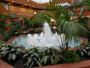 The fountain in the lobby. It's a noisy thing!